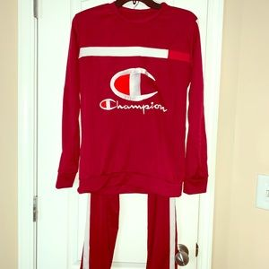 Red Champion Racer Stripe Track Suit